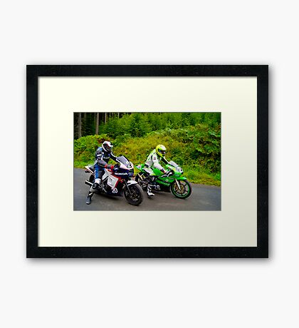 The Hill Climb No26 And No20 Framed Print