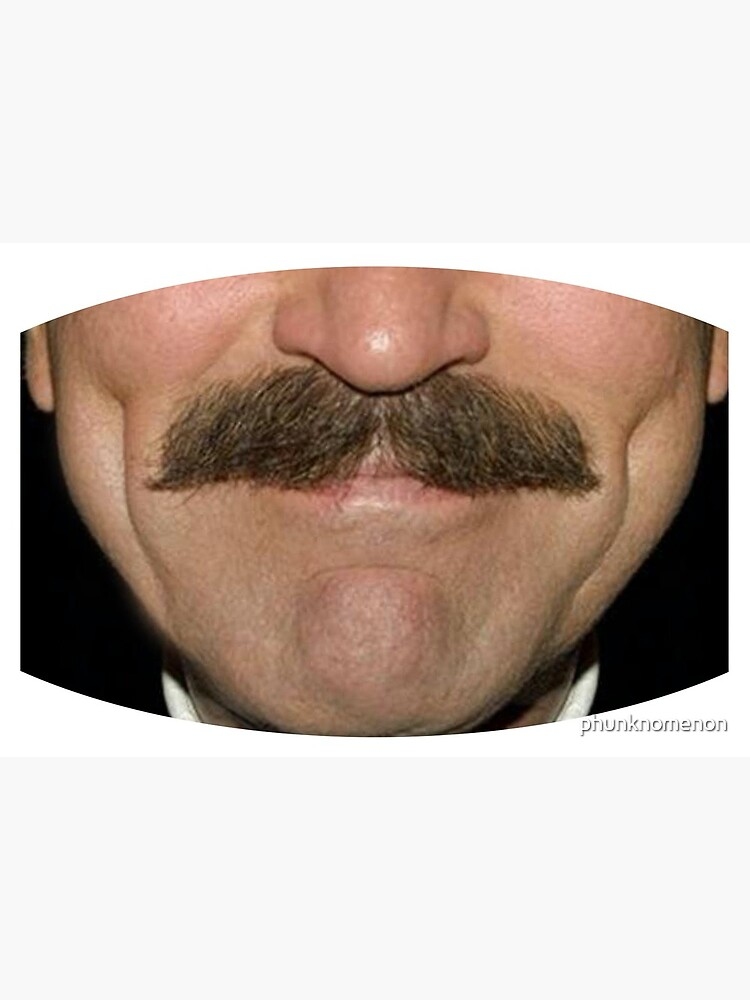 Tom Selleck Moustace Face Mask by phunknomenon