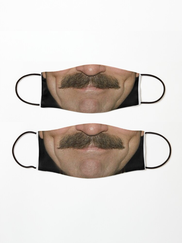 Alternate view of Tom Selleck Moustace Face Mask Mask
