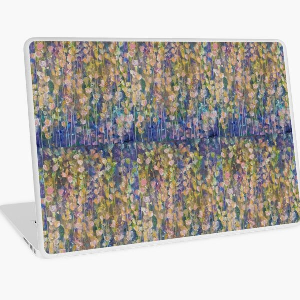 Pink flowers Laptop Skin