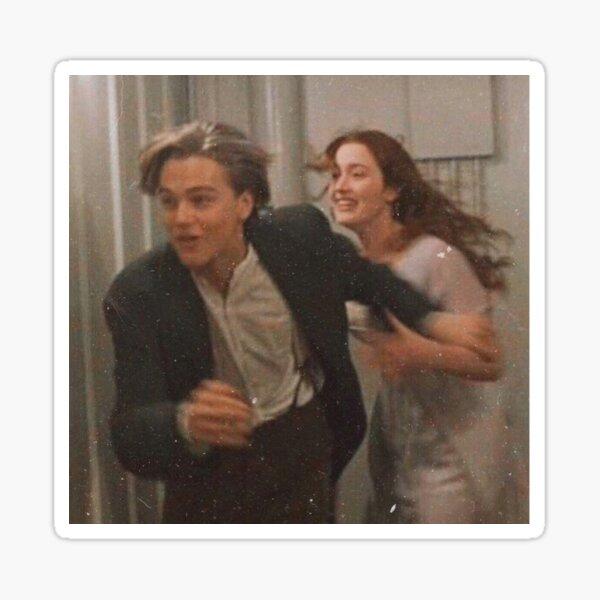 Jack and Rose on Titanic  Sticker