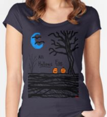 halloween jack o lantern all hallows eve Women's Fitted Scoop T-Shirt