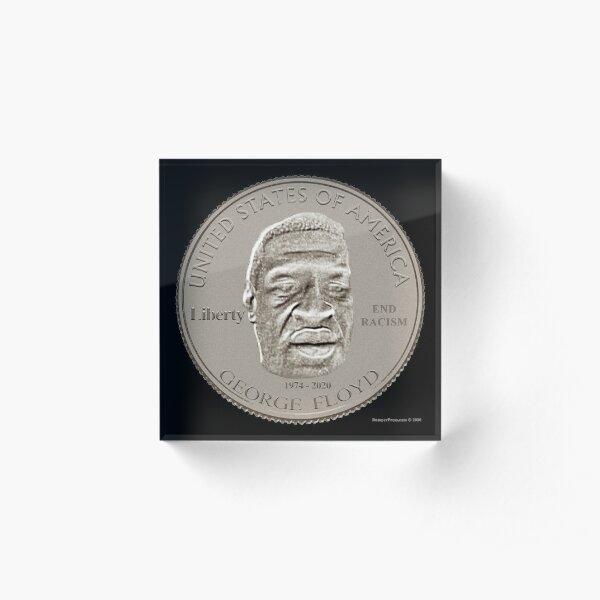 George Floyd Coin Design Acrylic Block