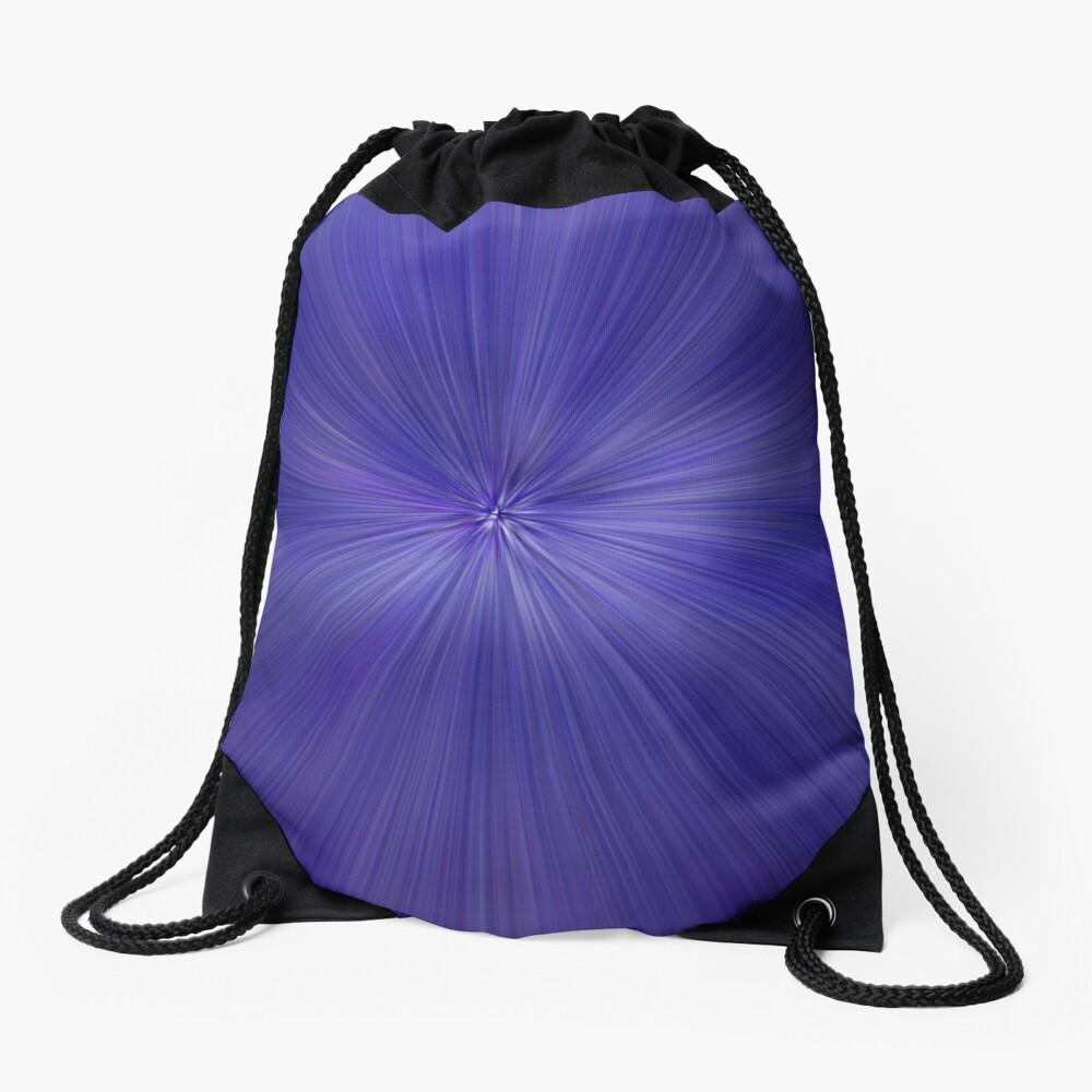 Purple lines Drawstring Bag