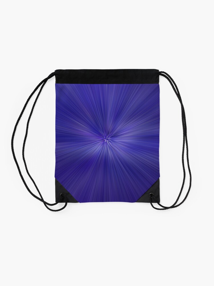 Alternate view of Purple lines Drawstring Bag
