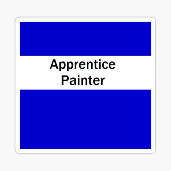 Apprentice Painter  Sticker
