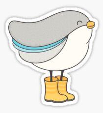 bird in boots Sticker