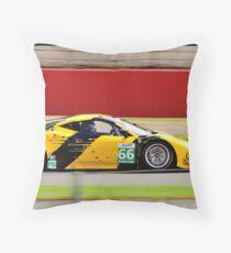JMW Motorsport Ferrari No 66 Throw Pillow