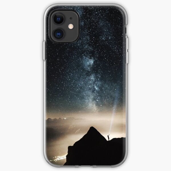 Look at stars in galaxy  iPhone Soft Case