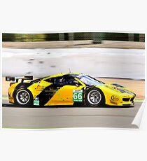Ferrari 458 No 66 Poster