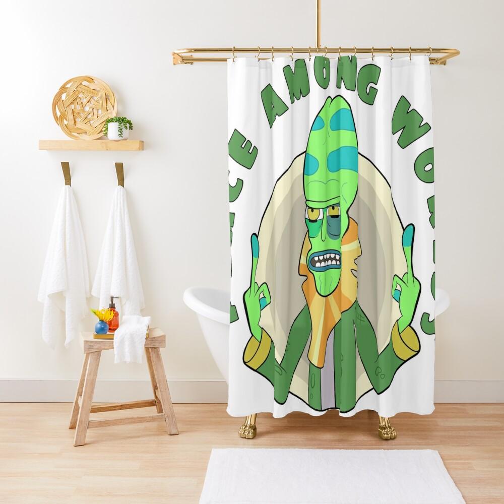 Peace Among Worlds - Zeep Xanflorp Shower Curtain