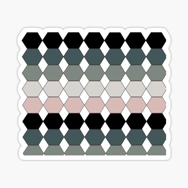 Black white gray model Sticker
