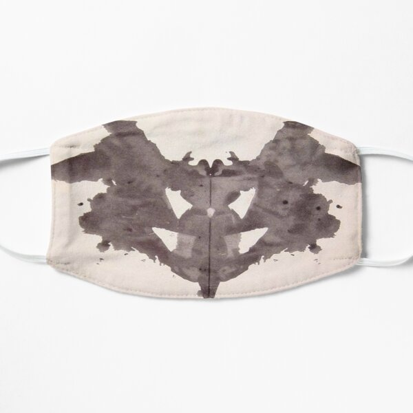 Psychology. Inkblot, first blot, Rorschach, inkblot test. Mask