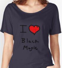 i love halloween black magic  Women's Relaxed Fit T-Shirt