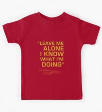 "Kimi Raikkonen  - ""Leave me alone. I know what I'm doing"" Kids Tee"