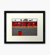Red Buildings  Framed Print