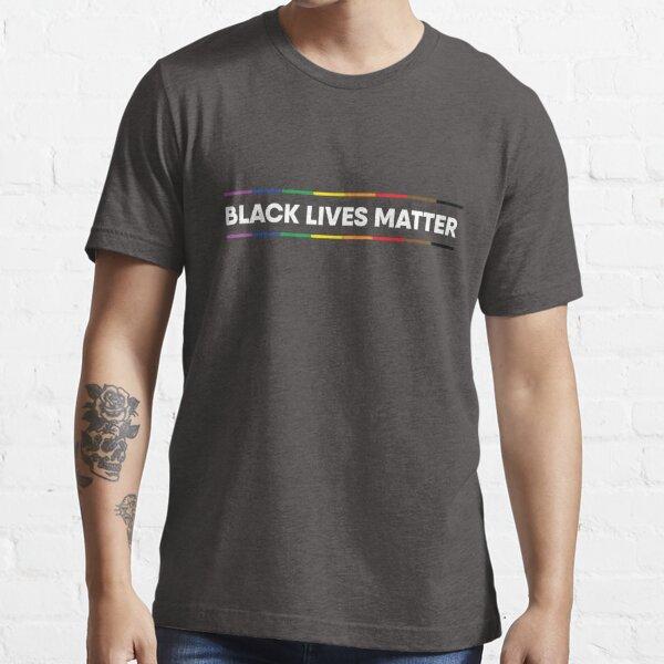 Black Lives Matter Pride Design (texte blanc) T-shirt essentiel