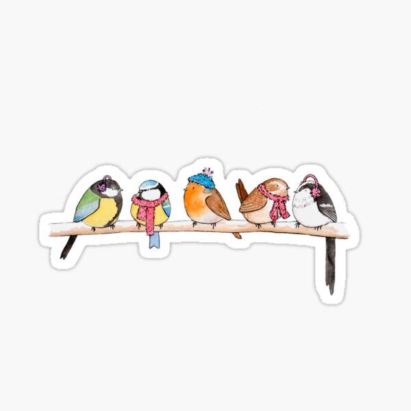 Winter Birdies Sticker