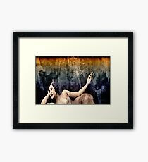 woman smoking a cigarette Framed Print
