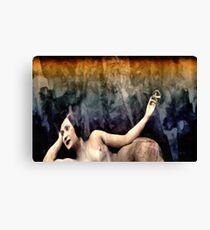 woman smoking a cigarette Canvas Print