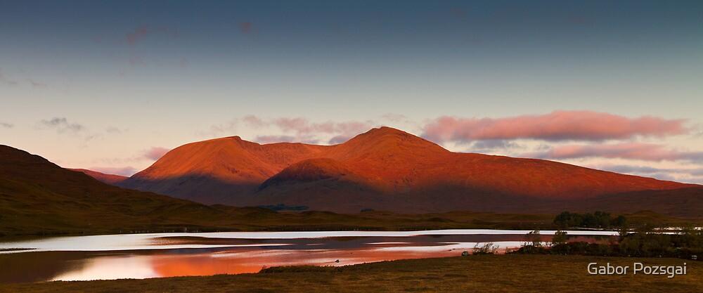Sunrise at Lochan na h-Achlaise, Scotland by Gabor Pozsgai