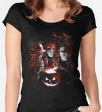 Super Villains Halloween Women's Fitted Scoop T-Shirt
