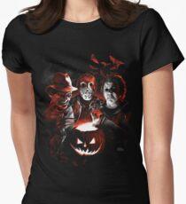 Super Villains Halloween Womens Fitted T-Shirt