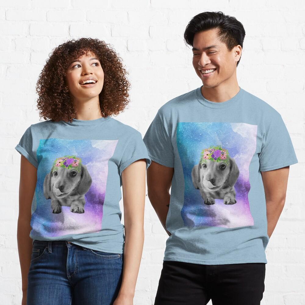 Distressed Watercolour Dachshund Puppy Classic T-Shirt