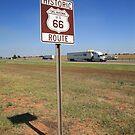 Route 66 - Oklahoma Shield by Frank Romeo
