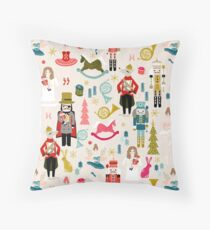 The Nutcracker - Beige by Andrea Lauren  Throw Pillow
