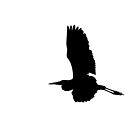 Silhouette of a Great Blue Heron by michelsoucy