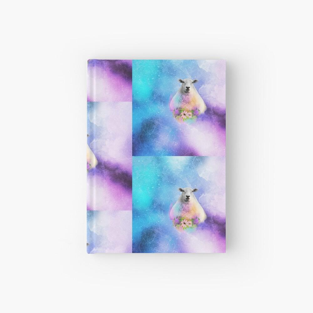 Floral Sheep Distressed Watercolour Splash Hardcover Journal