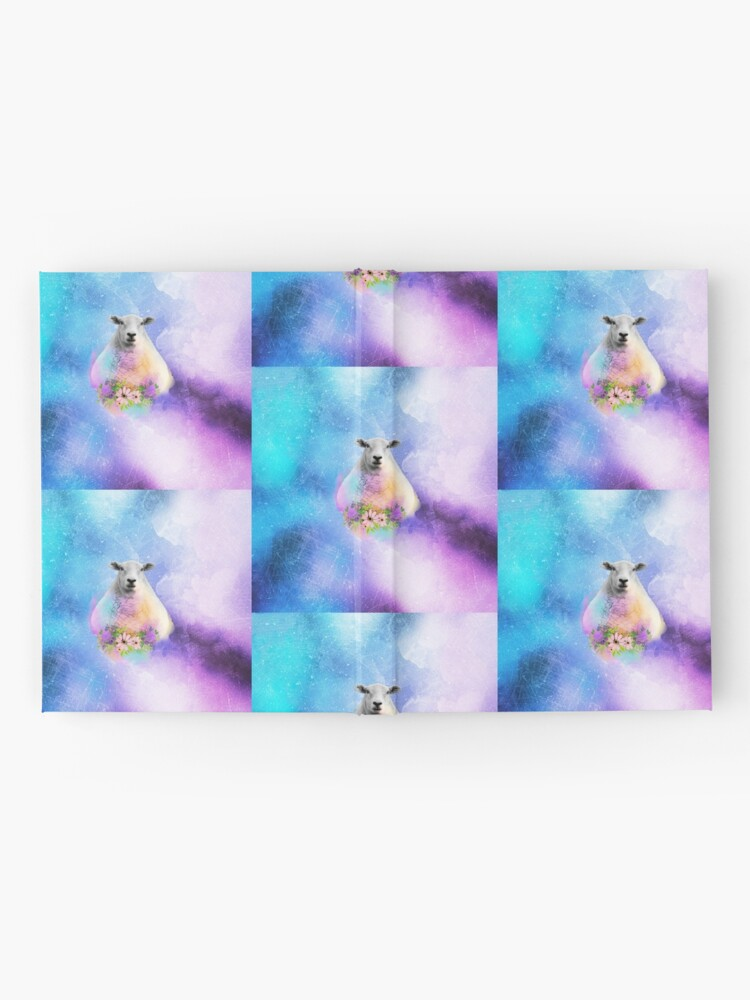 Alternate view of Floral Sheep Distressed Watercolour Splash Hardcover Journal