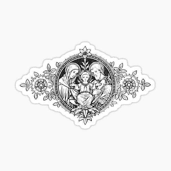 Vintage Holy Family Sticker