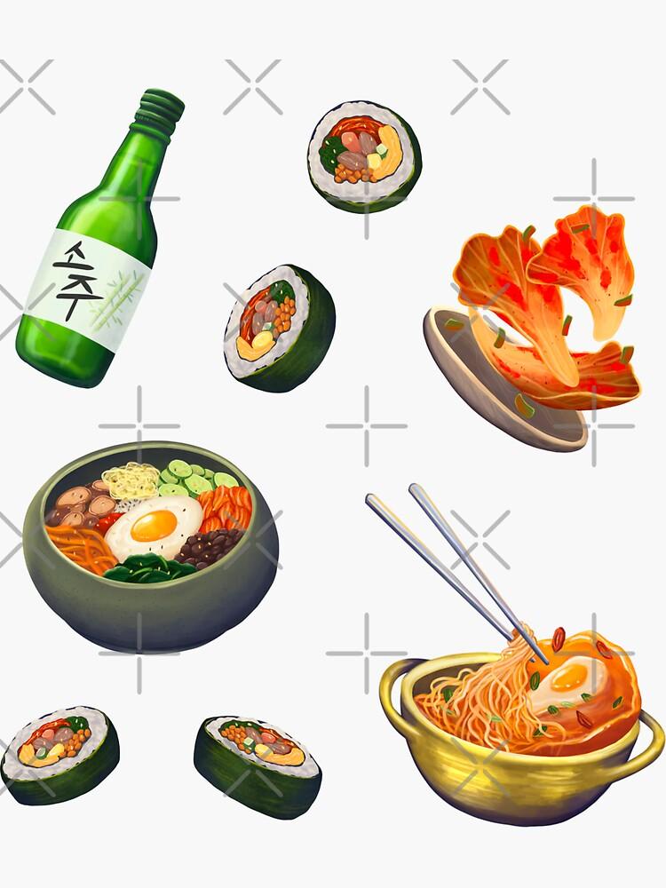 Korean Food Set by rawmawr