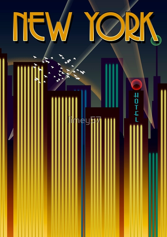 New York Travel Poster by limey57