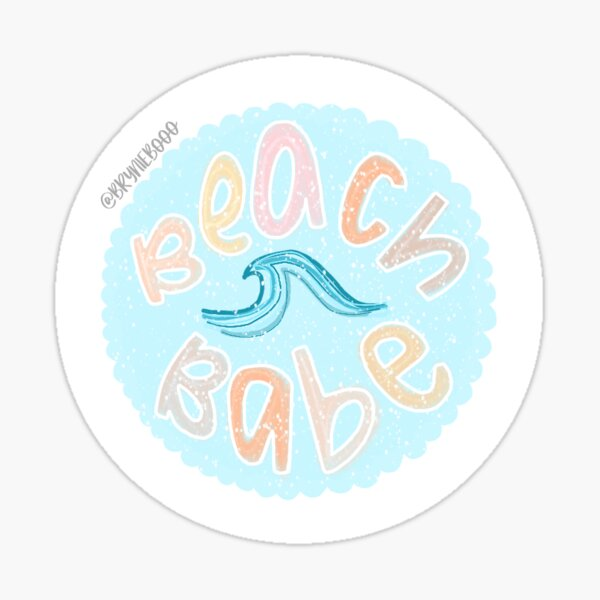 blue beach babe  Sticker