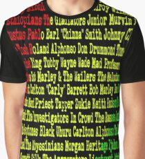 Reggae Artist - Roll Call Graphic T-Shirt