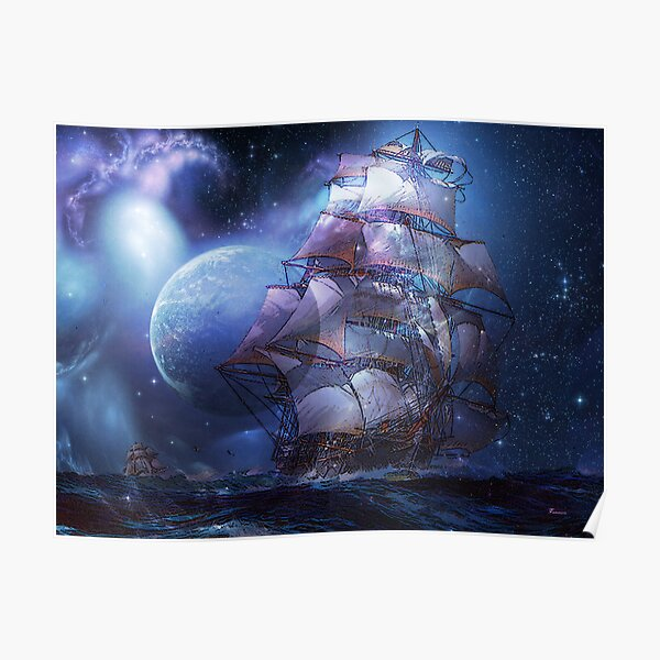 MOONLIT SAIL Poster