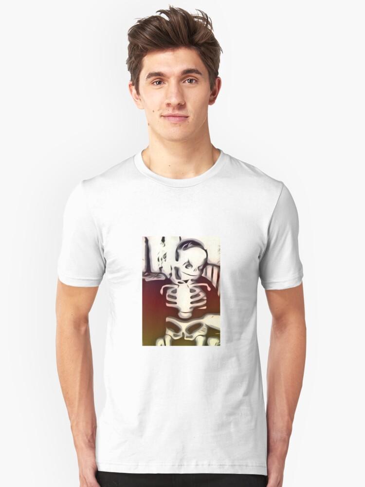 Red Skeleton Unisex T-Shirt Front