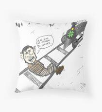 President Mahmoud Ahmedinanad caricature Throw Pillow