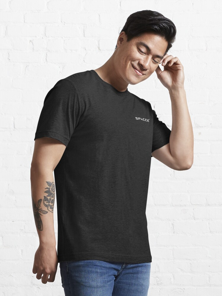 Alternate view of SpaceX Logo - White Essential T-Shirt