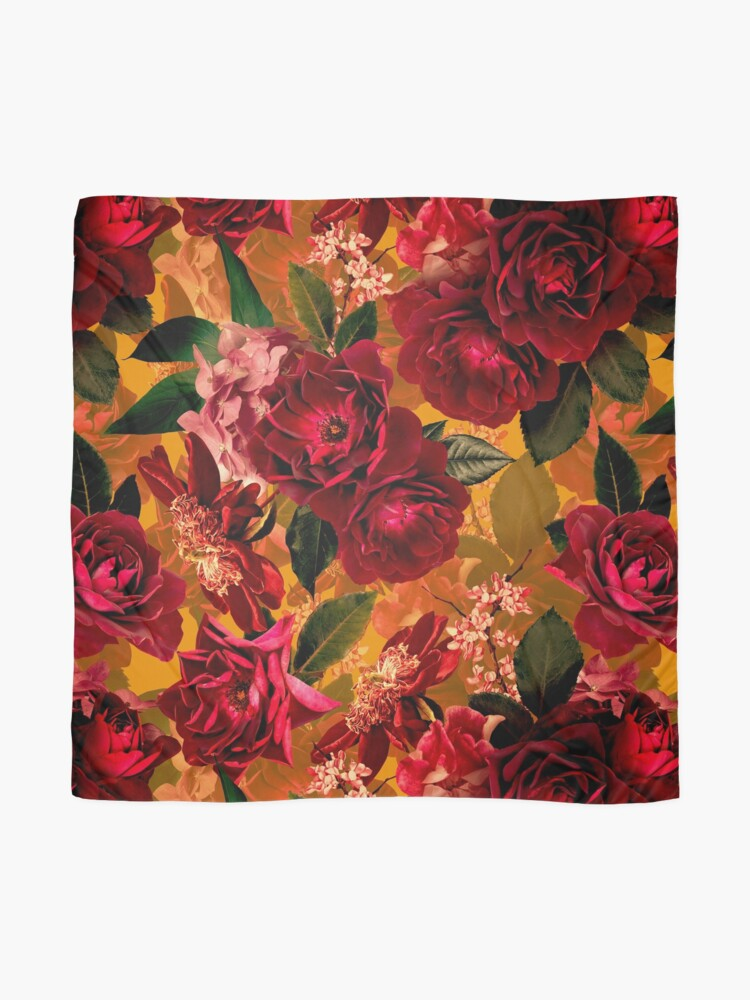 Alternate view of Antique Summer Day Botanical Flower Rose Garden Scarf