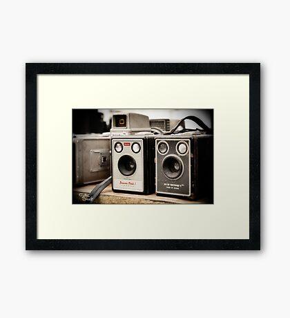 Old Cameras Framed Print