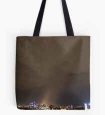 Dramatic rain storm cloud at night over Sydney city, Australia Tote Bag