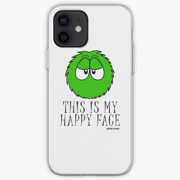 This is My Happy Face - Fluffball iPhone Soft Case