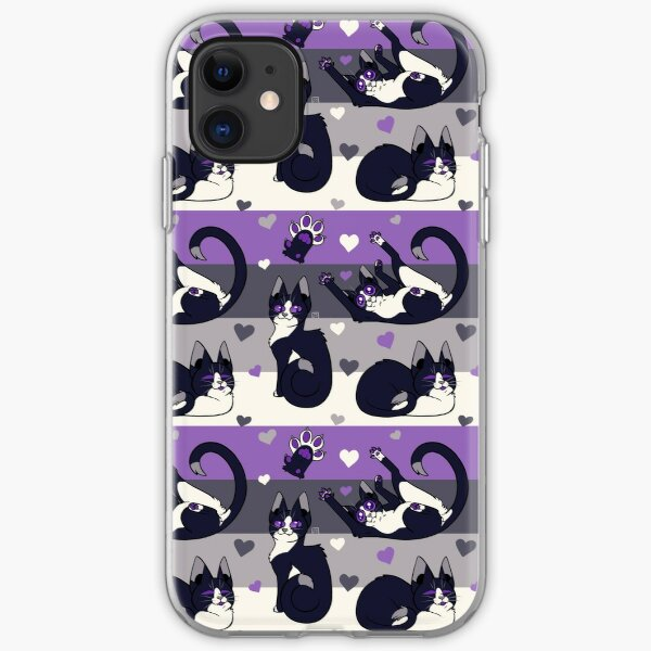 Queer Kitties - Asexual iPhone Soft Case