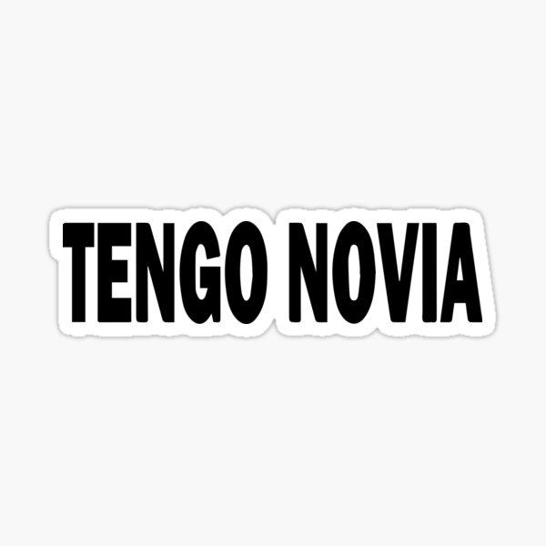 Etiqueta de vinilo tengo novia Pegatina