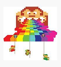 8 Bit Nintendo Rainbow Photographic Print