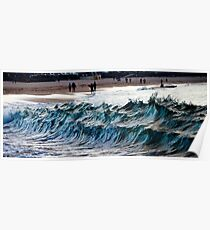 Waves at Bondi, New South Wales, Australia Poster